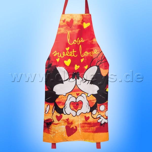 """Disney Grillschürze / Kochschürze Mickey & Minnie Maus """"Rot"""""""