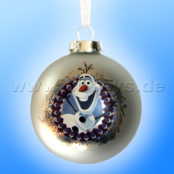 """Kurt S. Adler - Disney Die Eiskönigin """"Olaf"""" Weihnachtsbaumkugel / Glaskugel in Silber DN03005-E"""