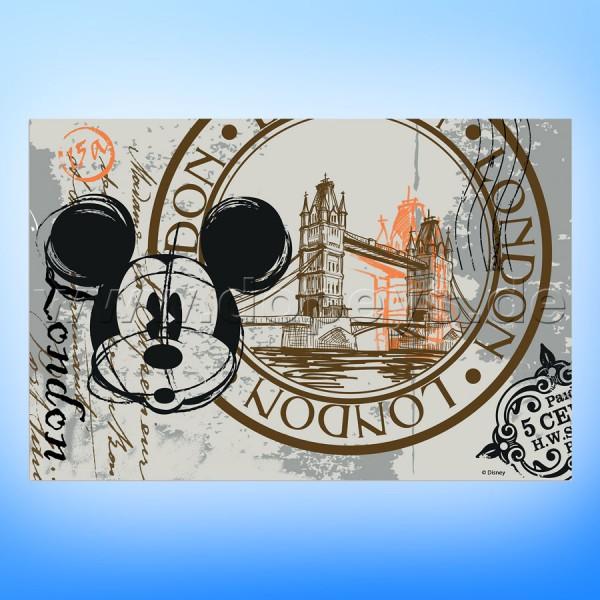 """Disney Platzdeckchen / Unterlage Mickey Maus """"London"""" im italienischen Design"""