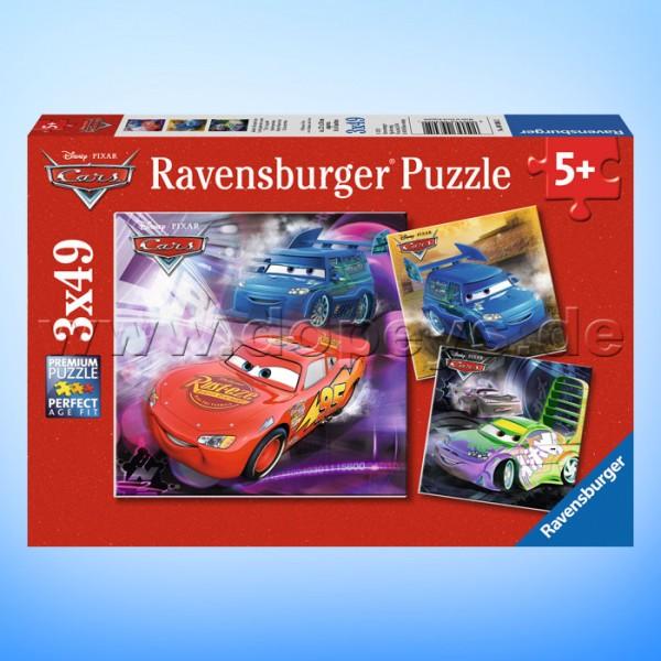 """Disney Puzzles Cars """"Auf der Rennstrecke"""" von Ravensburger 09305"""