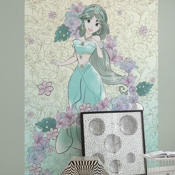 "Disney Vlies Fototapete Aladdin ""Jasmin Pale Flowers"""