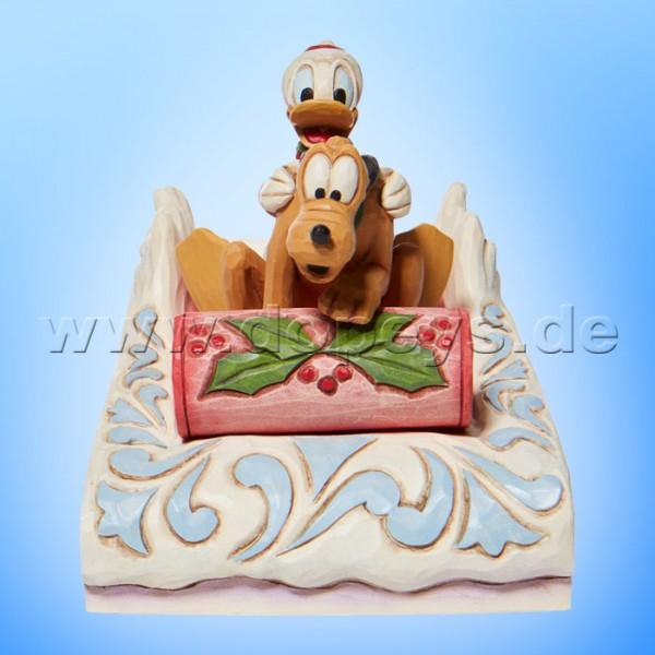 Disney Traditions - A Friendly Race (Donald & Pluto rodeln) von Jim Shore 6008973
