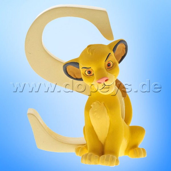 "Enchanting Disney Collection - Buchstabe ""S"" - Simba Figur von Enesco A29564"