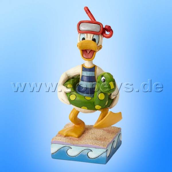 "Disney Traditions / Jim Shore Figur von Enesco. ""Make a Splash (Donald Duck mit Schwimmreifen)"" 4050415."
