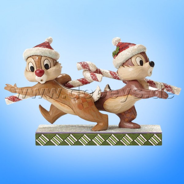 "Disney Traditions / Jim Shore Figur von Enesco ""Candy Cane Caper (Chip & Chap)"" 4051975."