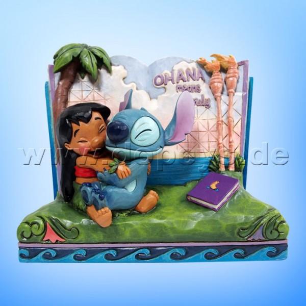 Disney Traditions - Ohana Means Family (Lilo & Stitch Märchenbuch) von Jim Shore 6010087