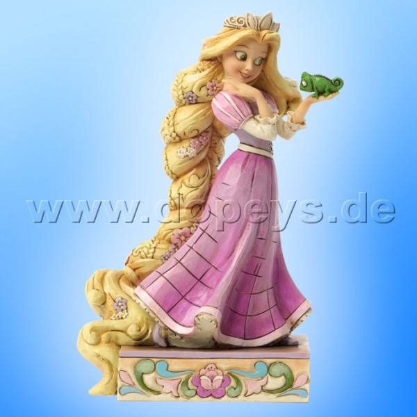 "Disney Traditions / Jim Shore Figur von Enesco ""Loyalty and Love (Rapunzel & Pascal)"" 4037514."
