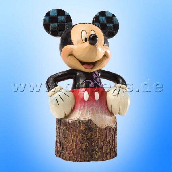"Disney Traditions / Jim Shore Figur von Enesco ""Carved by Heart Baumstamm (Mickey Maus)"" 4033288."