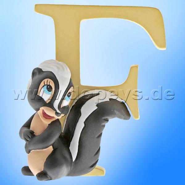 "Enchanting Disney Collection - Buchstabe ""F"" - Blume Figur von Enesco A29551"