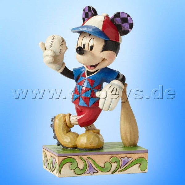 "Disney Traditions / Jim Shore Figur von Enesco. ""Batter Up (Mickey Baseball)"" 4050400."