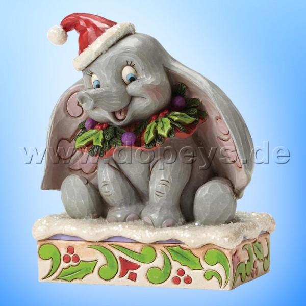"Disney Traditions / Jim Shore Figur von Enesco ""Sweet Snow Fall (Dumbo 75 Jahre Jubiläumsfigur)"" 4051969."