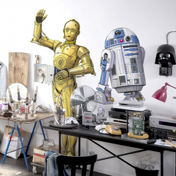 """Star Wars Vlies Fototapete selbstklebend """"Star Wars XXL C-3PO"""" 127cm x 200cm"""