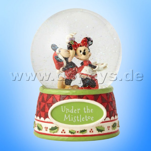 "Disney Traditions / Jim Shore Figur von Enesco ""Under The Mistletoe (Mickey Maus & Minnie Maus Schneekugel)"" 4060275"